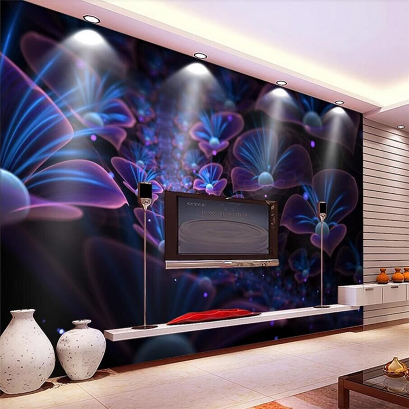The whole network exclusive three-dimensional fantasy God Milan plant art background professional production wallpaper mural cus