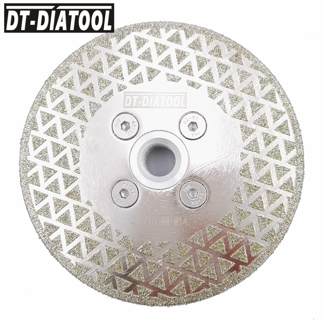 DT-DIATOOL 1pc Electroplated Diamond Cutting & Grinding Blade M14 Flange For Tile Marble Single Side Coated Diamond Saw Blade