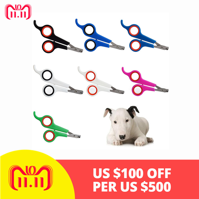 Stainless Steel Nail Clippers Portable Pet Animal Dog Cats Bird Toe Claw Grooming Nail Clippers Scissors Trimmer Ghmy
