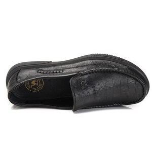 Image 3 - Zapatos para hombre de piel auténtica CAMEL, mocasines cómodos de alta calidad, calzado Formal de negocios para hombre, mocasines masculinos 47