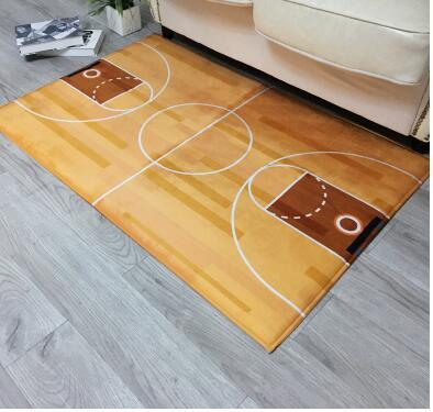 Basketball Field Carpet Floor Mat Home Decoration Door Hallway Mat Basketball Court Carpets For