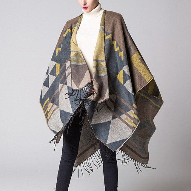 c06016fbf2ae US $24.99 |ZANZEA Damen Fashion Oversized Pullover Strickjacke 2018 Winter  Strickjacke Cape Poncho Al l spiel Quasten Schal Frauen Scarve in ZANZEA ...