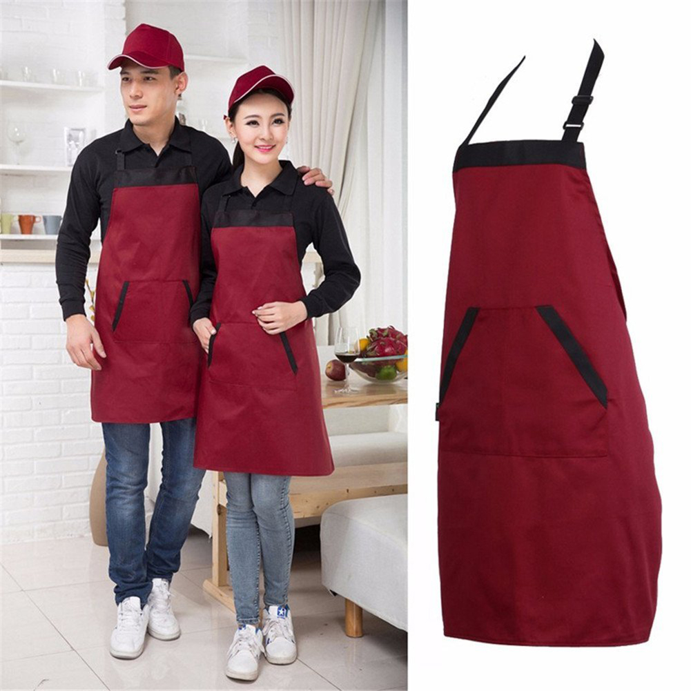 1Pc Home Kitchen Long Man Women Waist Apron with Pocket Catering Chef Waiter Bar Waterproof Western Style Apron Drop Shipping in Aprons from Home Garden