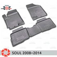 Коврики для Kia Soul 2008 ~ 2014 ковры Нескользящие полиуретановые грязи защиты подкладке автомобиля средства укладки волос