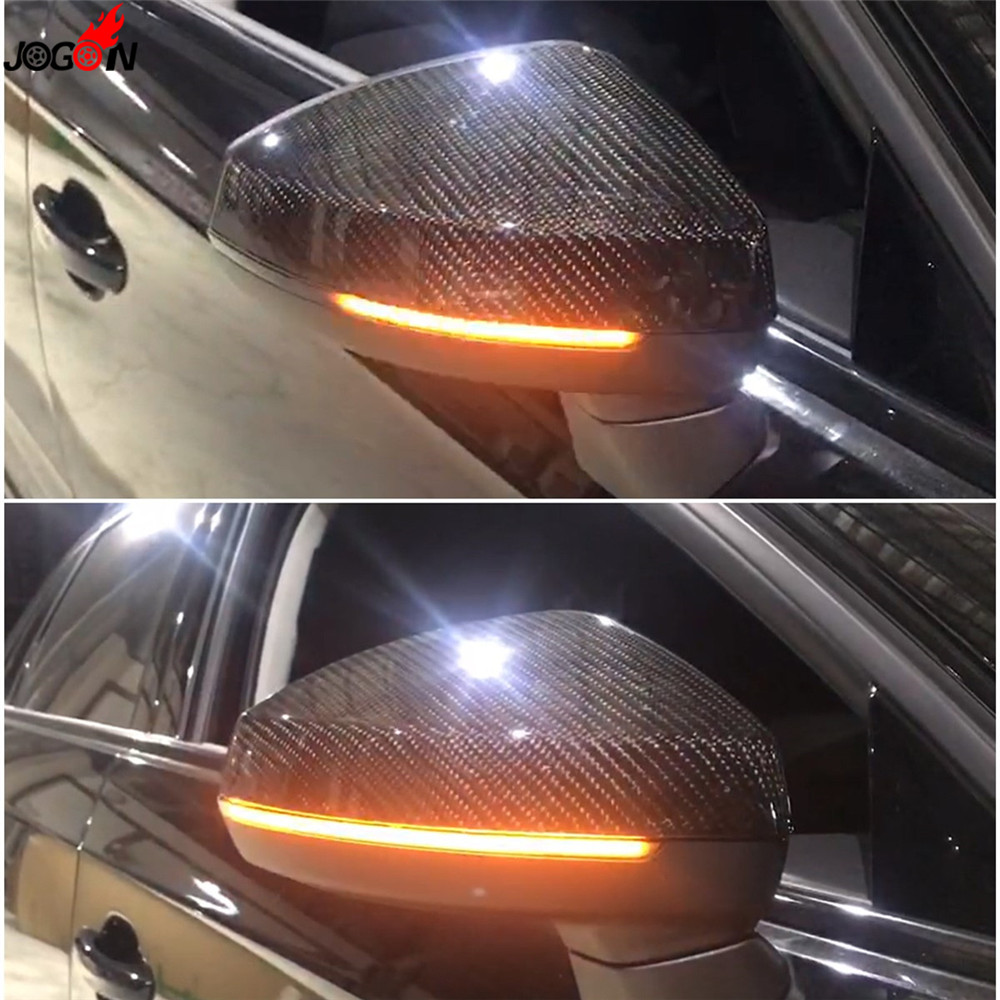 Dynamic Turn Signal LED Side Wing Rearview Mirror Indicator Blinker Repeater Light For AUDI A3 S3