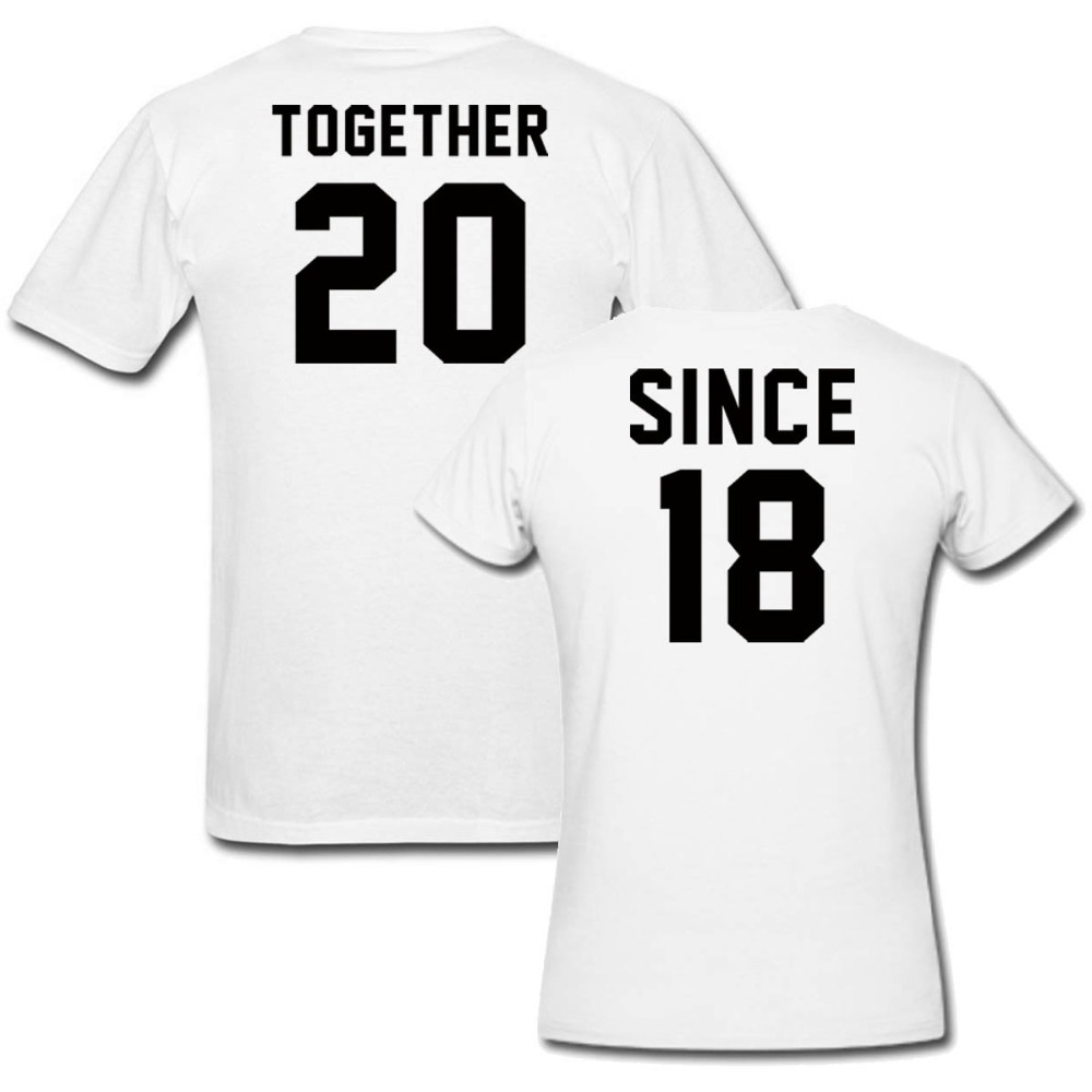 Us 15 59 35 Off Since Together 2018 Matching T Shirt Funny Custom Wedding Party Shirts Personalized Hip Hop Tops Tee Homme In