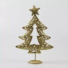 15pcs/pack gloden gliter christmas tree Figurine star Home office Decoration Miniature Gift car decor