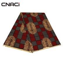 CNACI African Wax Fabric Polyester Real Fashion Design 6 Yards Shaoxing Textile Tissu Ankara Guaranteed