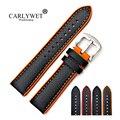 CARLYWET 20 22mm Großhandel Silikon Gummi Wasserdichte Ersatz Armbanduhr Band Für Dayjust Tudor Omega