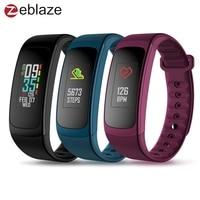 2018 New Zeblaze PLUG C Reflective Color LCD Wristband Smart Electronics Bluetooth Fitness Tracker Always on Heart Rate Bracelet