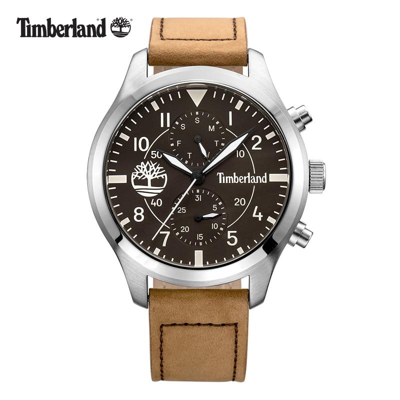 Weekly Calendar Quartz : Timberland leather fashion casual quartz multifunction