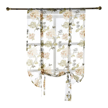Фотография Flower Roman Curtains Kitchen Valance Tulle Sheer Panel Bedroom Window Drape