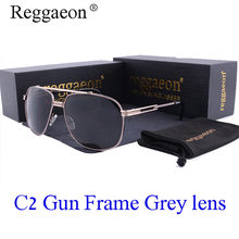 Reggaeon New Color Lenses retro mirror lady sunglasses square metal frame luxury