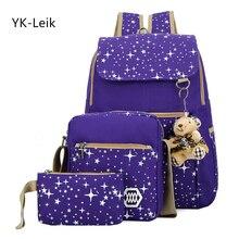 YK вебе-leik высокой емкости рюкзак с медведем школьные сумки для подростков девочек рюкзаки печати милые школьная сумка Mochila Infantil