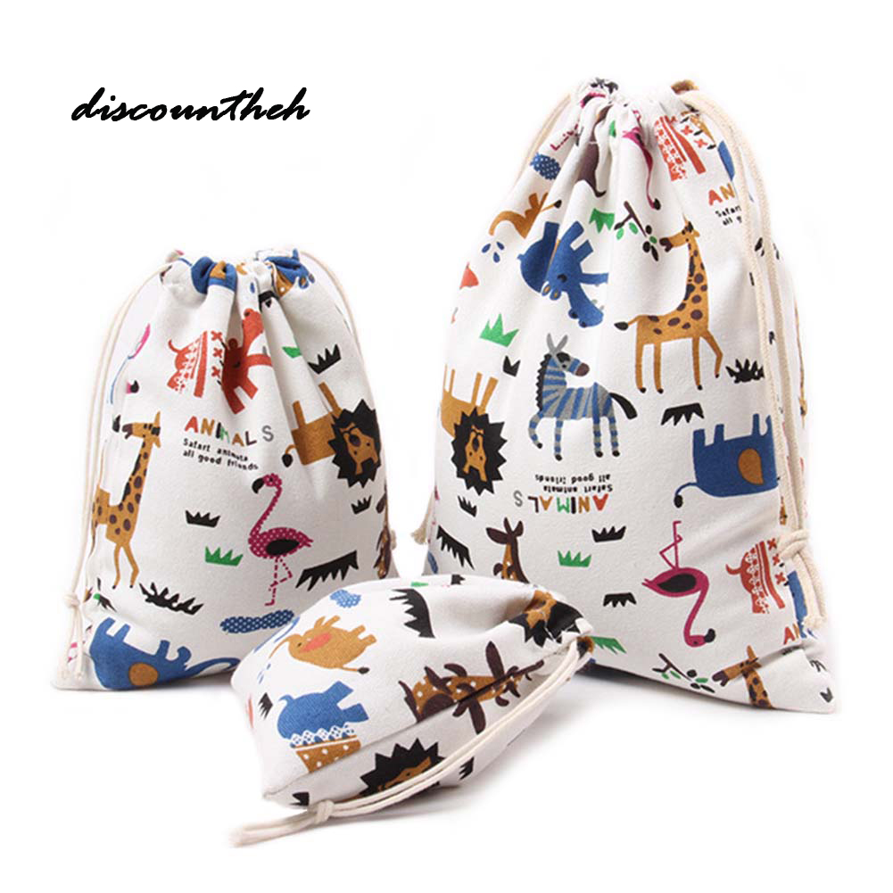 New Fashion Waterproof Drawstring Bag 3D Digital Printing Polyester For Kids With Cute P ...