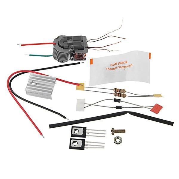 New 15KV High Frequency DC High Voltage Arc Ignition Generator Inverter Boost Step-Up DIY Kit U Core Transformer Suite 3.7V
