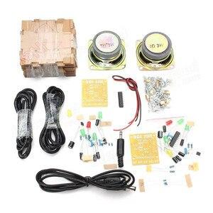 Image 2 - New Stylish Mini Individuality DIY Transparent Mini Amplifier Speaker Kit 65x65x70mm 3W Per Channel