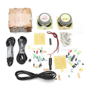 Image 2 - Novo elegante mini individualidade diy transparente mini amplificador alto falante kit 65x65x70mm 3 w por canal