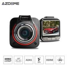 Azdome GS52D MINI Cámara Del Coche de Ambarella A7 Auto Cámara de Vídeo Grabador FHD 1296 P 30fps 170 grados 2.0 pulgadas LCD HDR Dash Cam H25