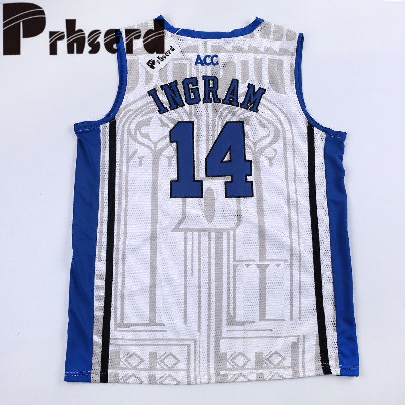 uk availability 5e5b8 f54cf Mens #14 Brandon Ingram College Embroidered Throwback ...