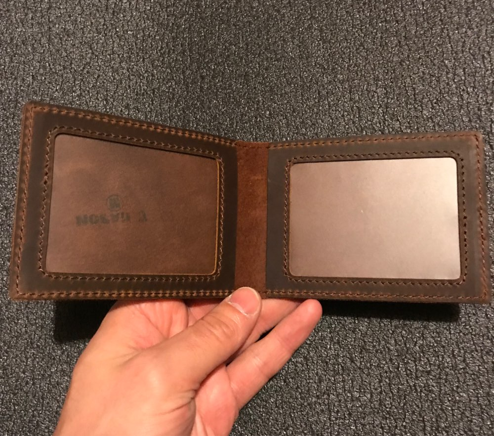 Handmade Genuine Leather Driver License Cover Card Holder Crazy Horse Leather Sheath Concise Ancient Design Fashion Recommend photo review