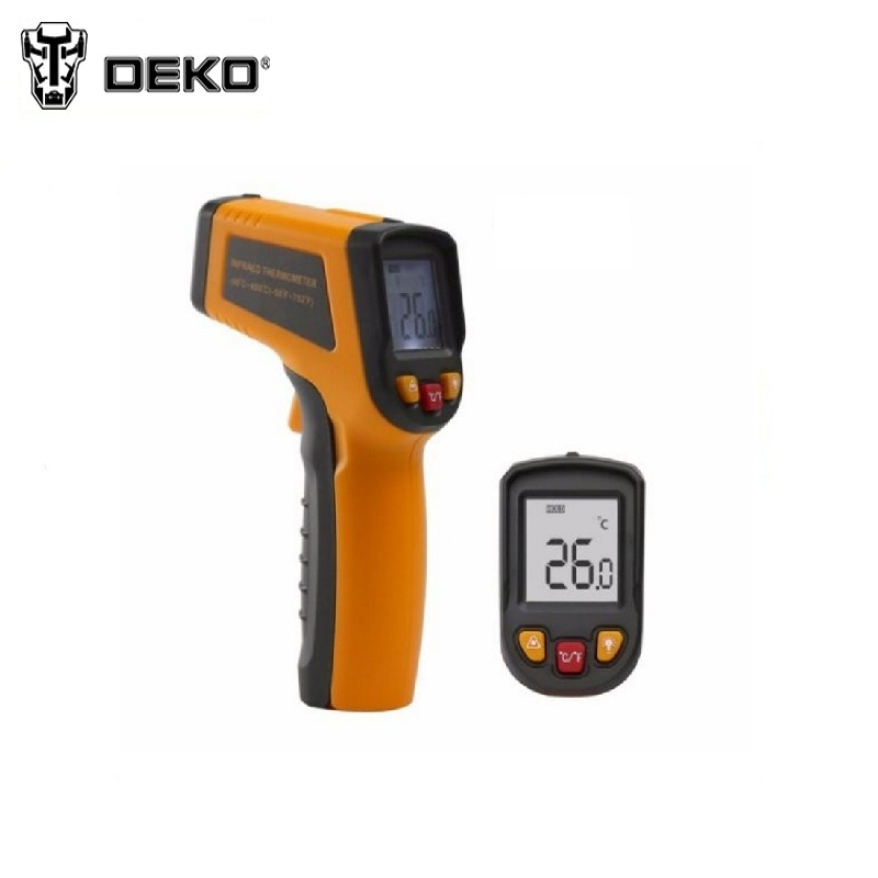 Infrared pyrometer DEKO CWQ02 Non-Contact Laser LCD Display IR Infrared Digital C/F Selection Surface Temperature Thermometer mastech ms8211 pen type digital multimeter non contact ac detector