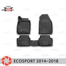 Коврики для Ford Ecosport 2014 ~ 2018 коврики Нескользящие полиуретановые грязезащитные внутренние аксессуары для стайлинга автомобилей