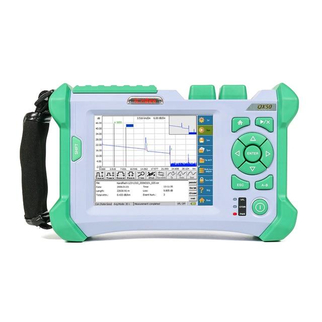 Komshine QX50 P1 1310/1490/1550nm 32/28/30dB PON OTDR Reflectometro utilizzato per localizar y medir perdida e fallo de fibra optica
