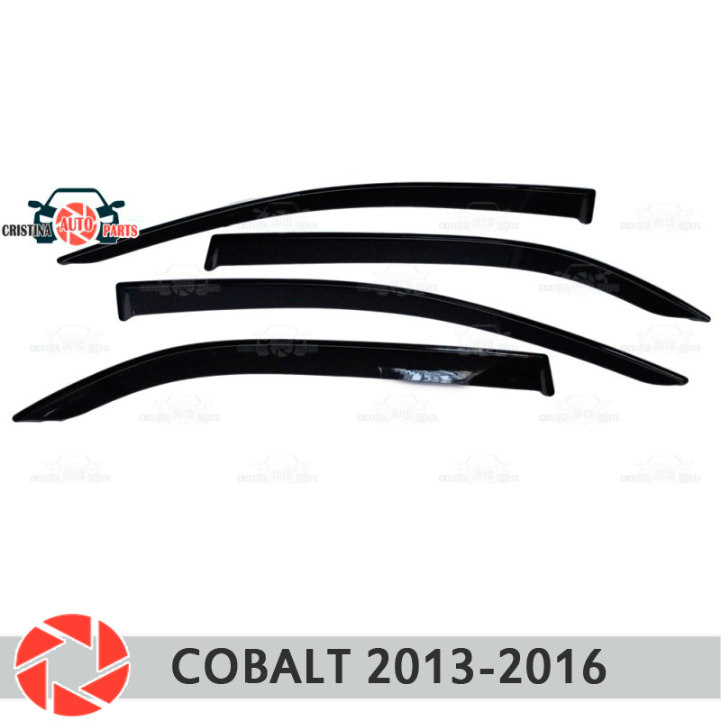 Window deflector for Chevrolet Cobalt 2013-2016 rain deflector dirt protection car styling decoration accessories molding cartecs carchv00038 model chevrolet cobalt 2013 black