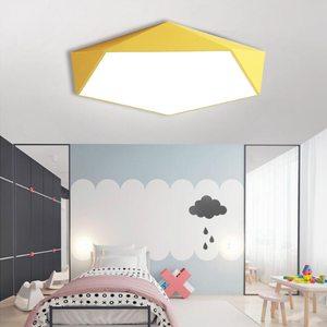 Image 2 - Macaron Pentagonal ceiling lights Acrylic LED Lamp Modern Living Room Bedroom Restaurant Kids Room Nordic Home Lighting Fixture