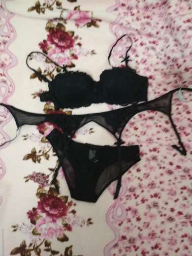 CINOON New plus size women sexy bra set intimates embroidery half cup lingerie thin temptation  and panty with Garters Sets