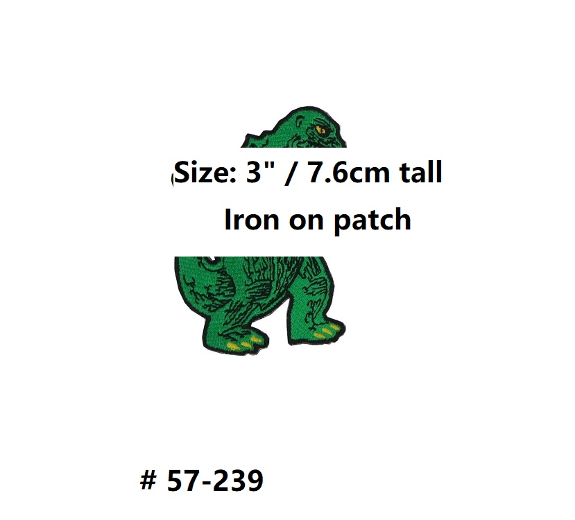 King of the Monster Logo Horror Movie Film Iron On Sew On Patches for clothing costume    1