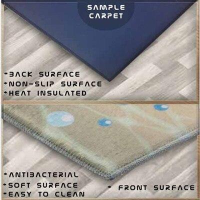 Autre vert rose carreaux géométrique 3d impression antidérapant microfibre salon décoratif moderne lavable zone tapis - 2