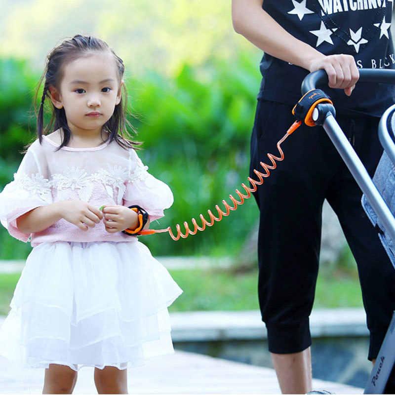ילדים בטוח לרתום ילדי רצועה אנטי איבד יד קישור מתיחת חבל אנטי אבוד צמיד פעוט ילד Coleira תינוק הליכון Andador