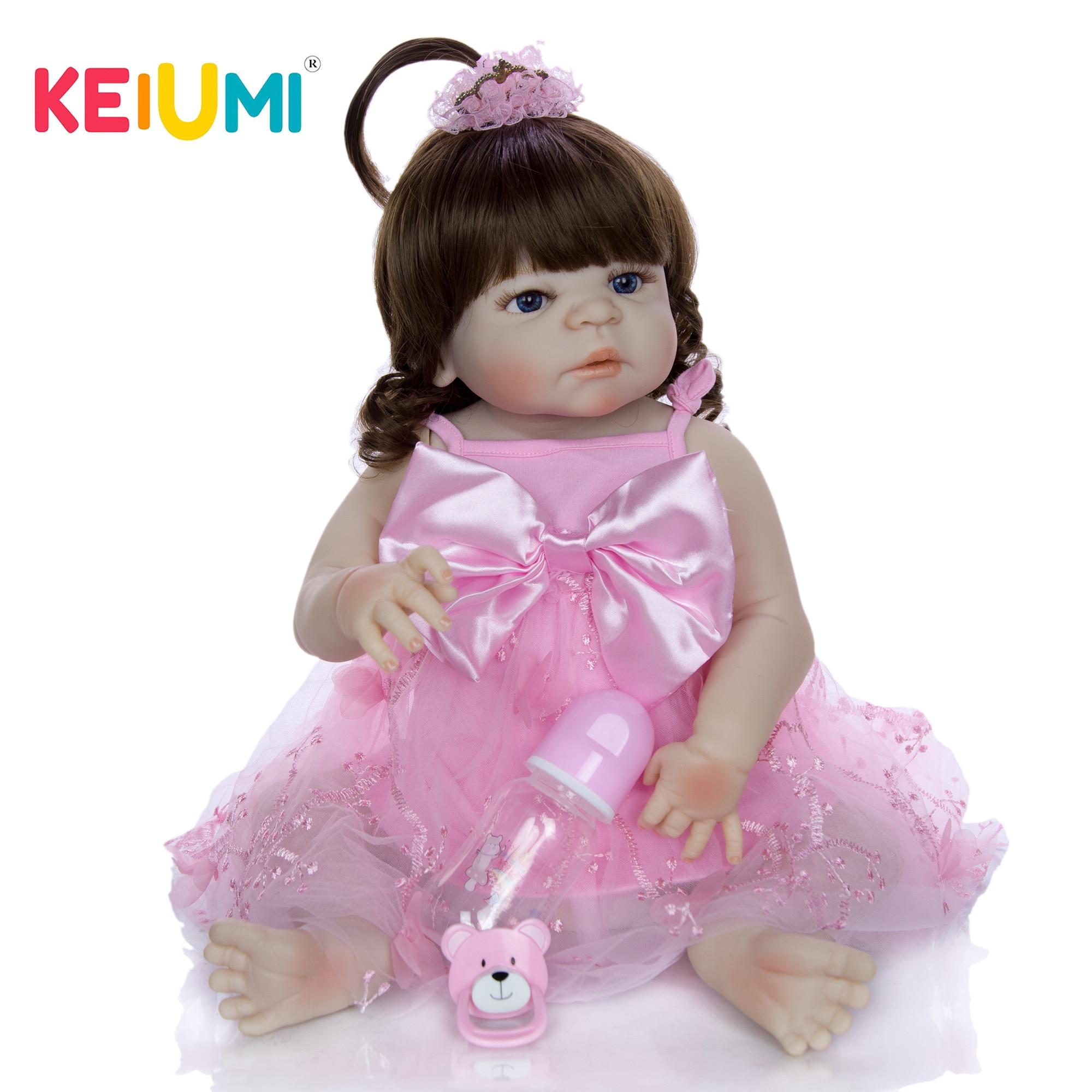 Lovely Reborn Bonecas Menina Toys 23 Full Silicone Vinyl Newborn Dolls Realistic Babies Reborn Dolls Lifelike