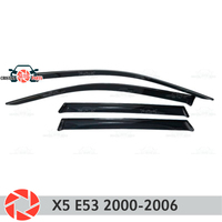 Deflector janela para BMW X5 E53 2000 2006 chuva defletor sujeira proteção styling acessórios de decoração do carro de moldagem|Estilo de cromo| |  -