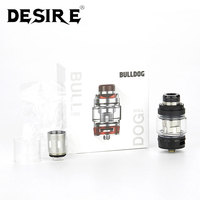 Original Desire Bulldog Subohm Tank 4.3ml with 0.18ohm Mesh Coil/0.2ohm Triple BCC Coil & Slide top Filling System Atomizer Tank