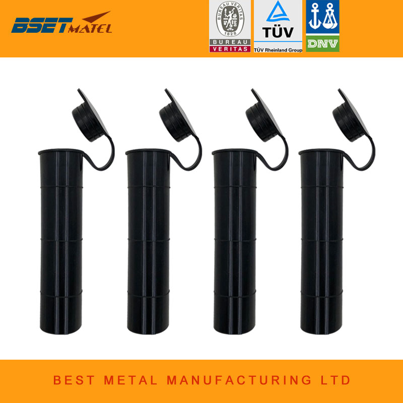 4 2018 new Black color 0 degree Fishing Rod holder Inner Sleeve Rod Pod Rubber Cap Tube  ...