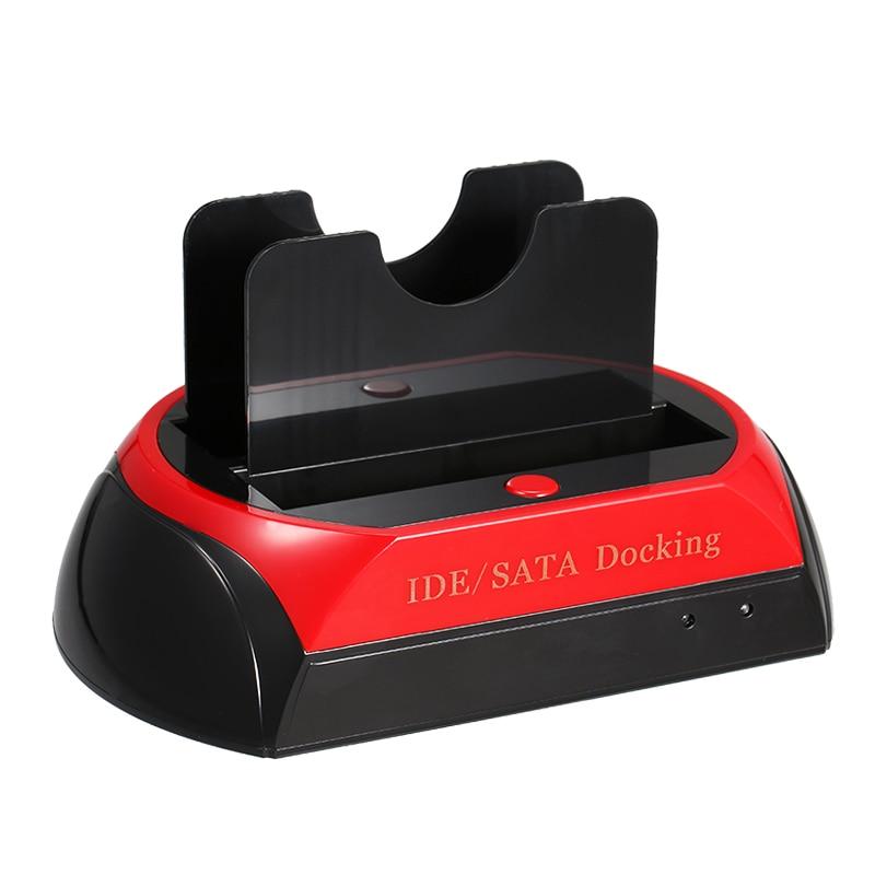 HDD Docking Station Dual Hard Disk Drive Docking Station Base For 2.5 Inch 3.5 Inch IDE/SATA USB 2.0