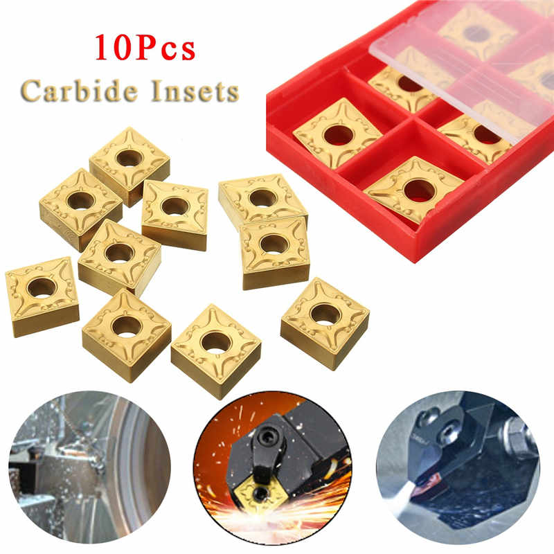 10Pcs/Set CNMG-431-MA Carbide Inserts Cutting Blades Boring Bar Lathe Turning Tool for CNC Manufacturing Metalworking solid carbide c12q sclcr09 180mm hot sale sclcr lathe turning holder boring bar insert for semi finishing