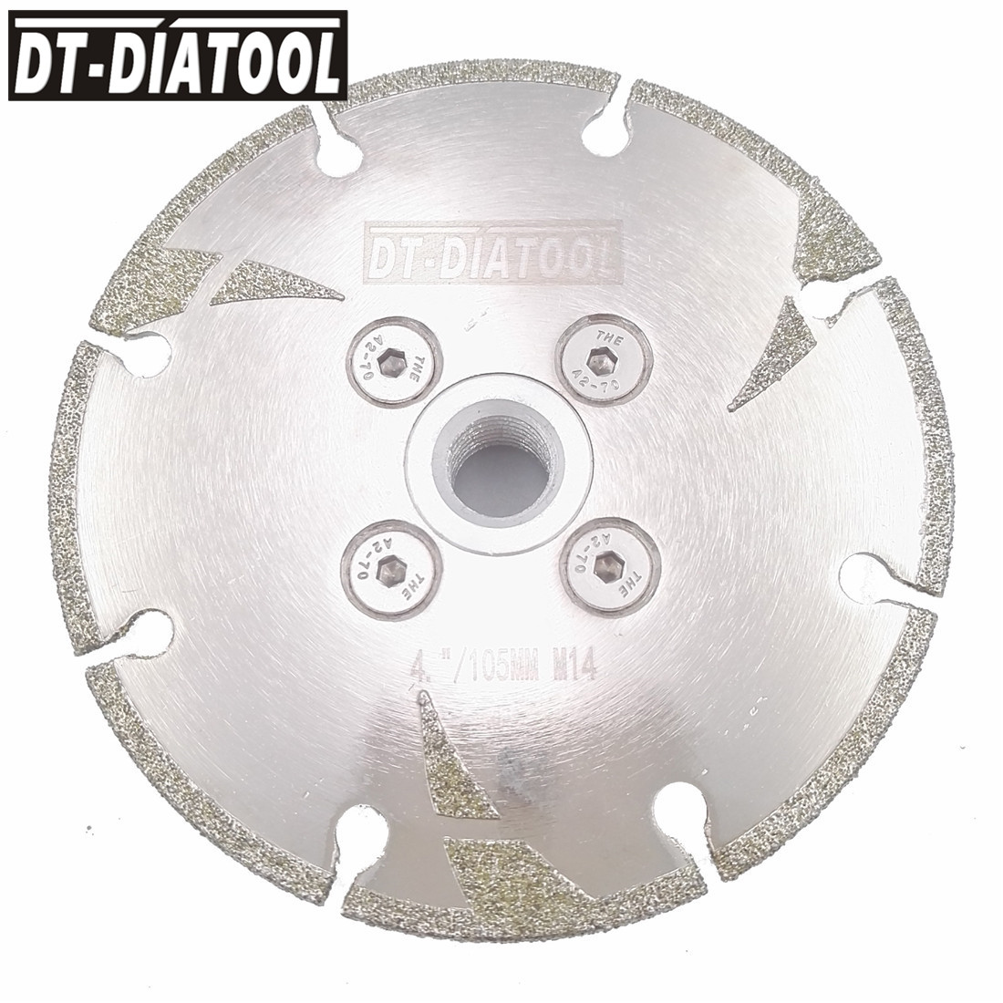 DT-DIATOOL 100mm/115mm/125mm Electroplated Reinforced Diamond Cutting Disc Saw Blade with M14 Thread DIa 4 4.5 5 Dry oe Wet