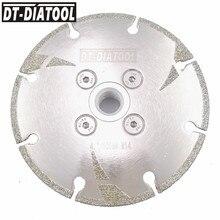 ДТ-DIATOOL гальваническим усиленный Алмазный режущий диск пилы резьбой M14 4 4.5 5 мрамор гранит