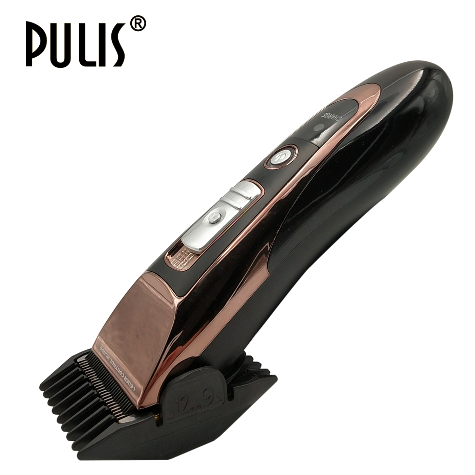 PULIS Professional Hair Clipper Electric Trimmer 1400mAh Rechargeable Haircut Machine Barber Tool with Limit Combs for Home 7600 цена