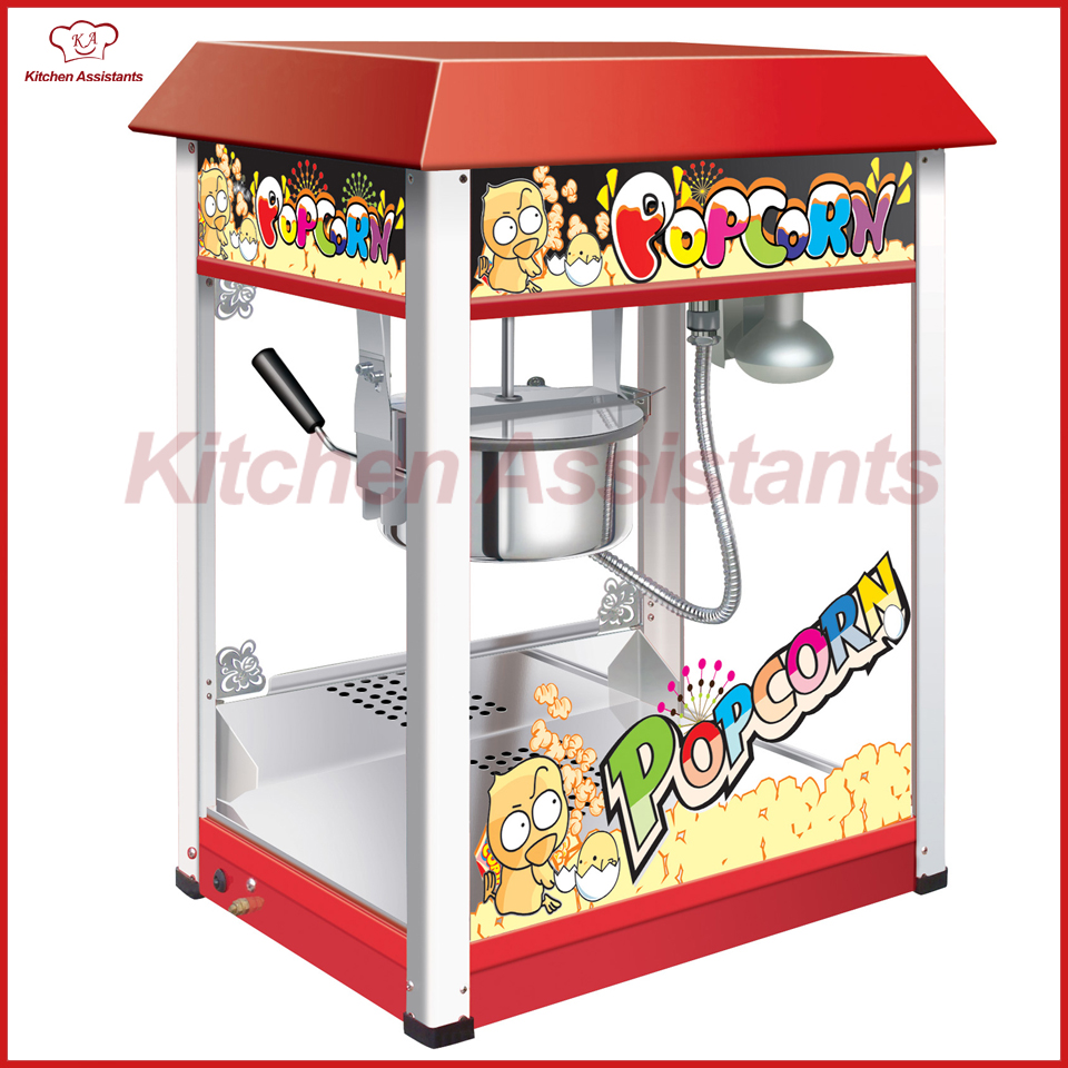 VBG1608 Commericial automatic popcorn machine maker with big volume 8oz series vbg1708 professional automatic popcorn machine maker with big volume 8oz series