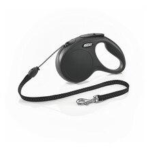 Рулетка Flexi для собак New Classic M (до 20 кг), шнур, 5 м.