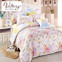 100% cotton satin jacquard flowers luxury bedding sets queen king size duvet cover bed sheet set bed set bed linen kit plaid