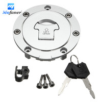 Motorcycle Fuel Gas Cap Cover Tank Lock Set With 2 Keys For Honda CBR600RR 03 14