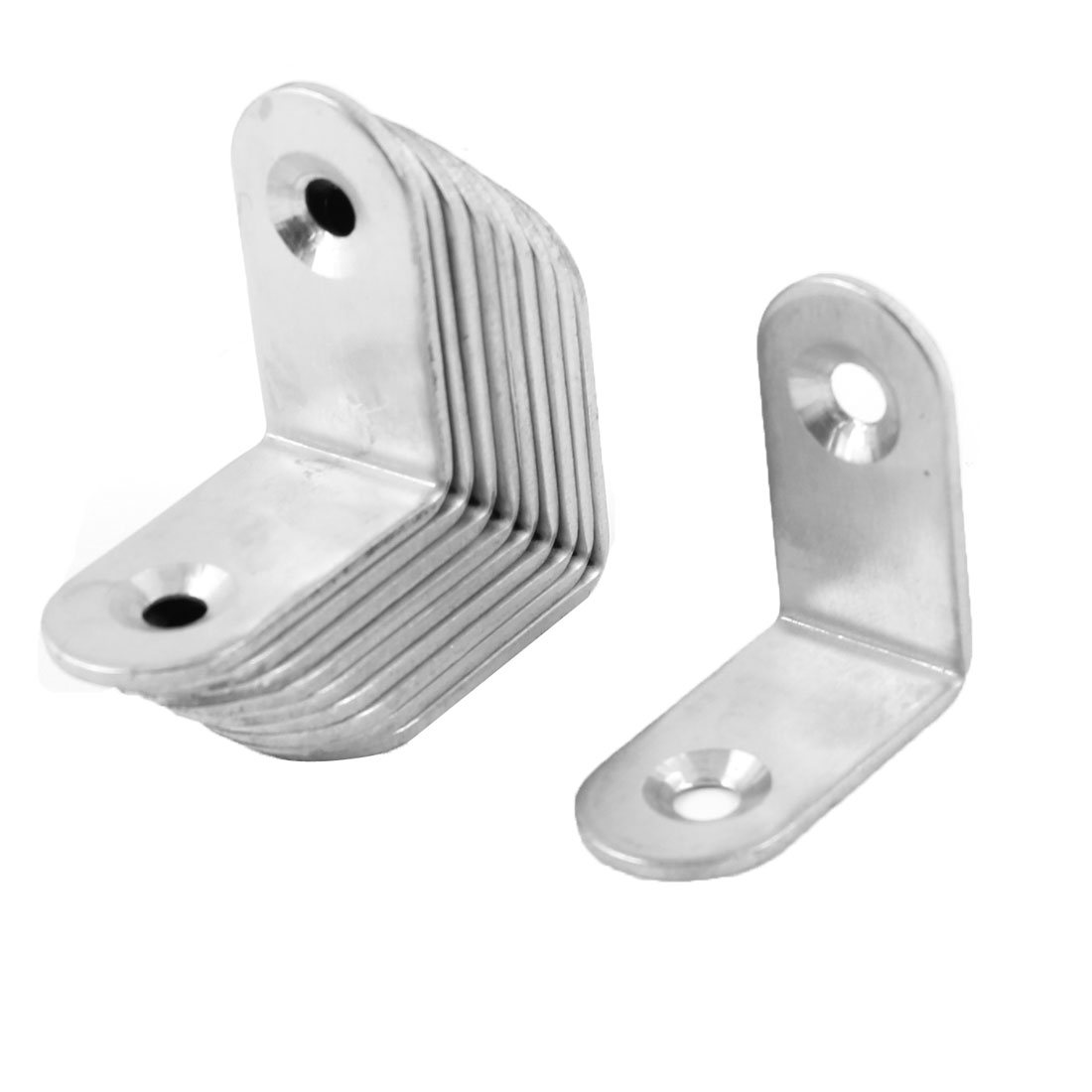 10pcs Stainless Steel Right Angle Bracket Corner Brace Joint 30 x 30mm Silver