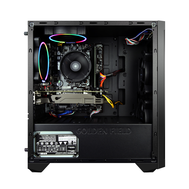 A1 AMD Ryzen5 2600 GTX1060 120 gb SSD Gaming Desktop PC Computer 8 gb RAM Hause Schreibtisch 5 Bunte Fans
