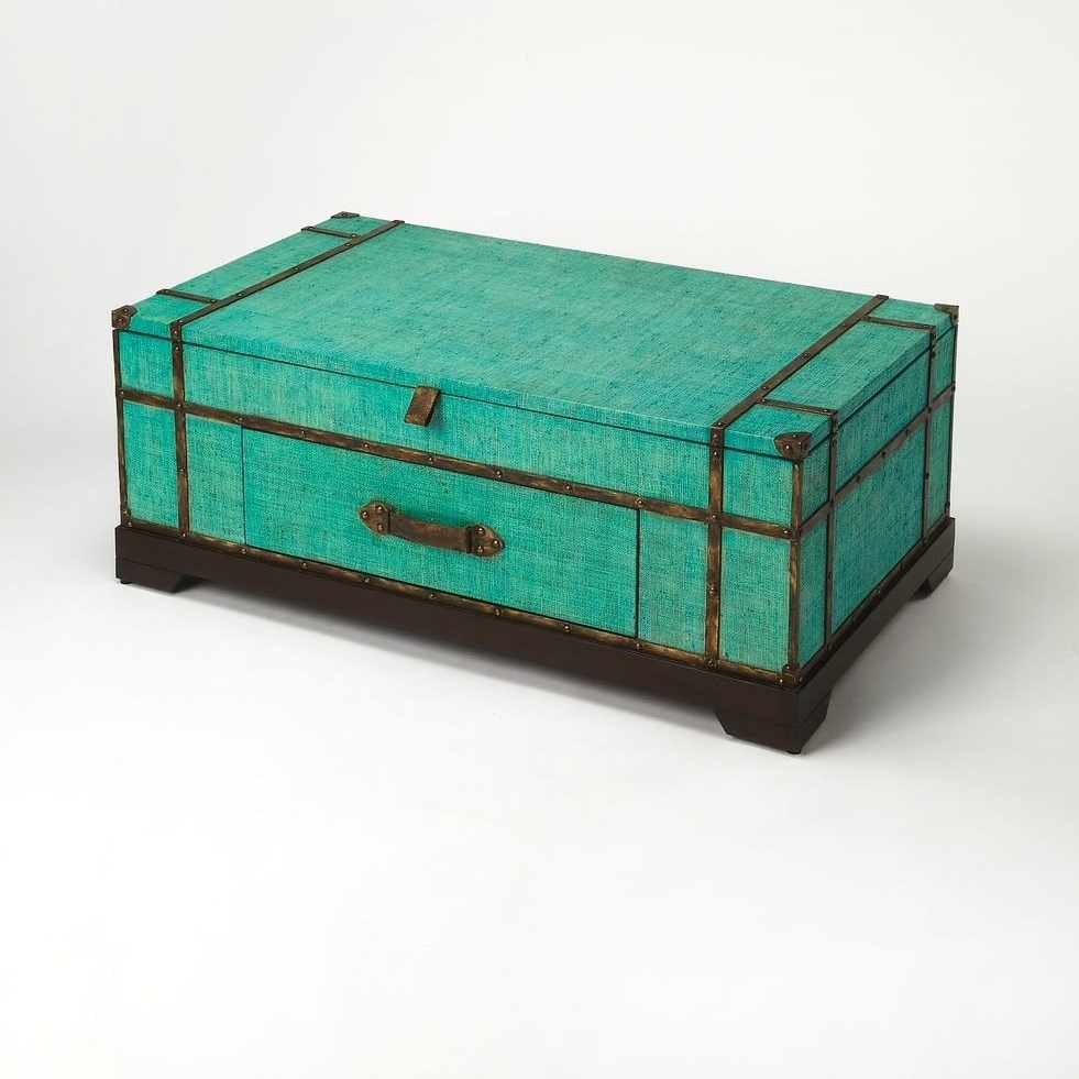 Butler Anabel Green Raffia Trunk Cocktail Table серьги butler and wilson